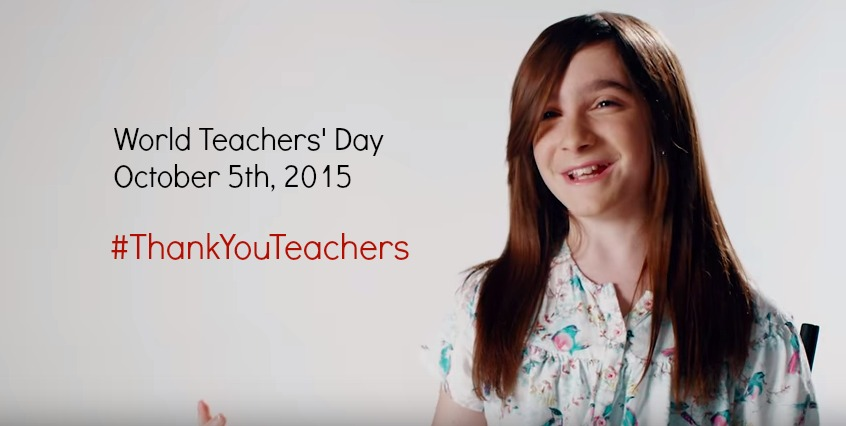 World Teachers' Day. #ThankYouTeachers