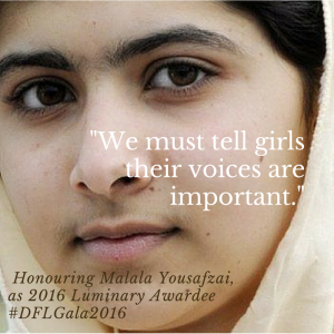 When Malala is Honoured on Wednesday by Toronto Charity Daughters for Life, I will be there.