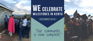 WE Celebrate Milestones in Kenya, December 2016